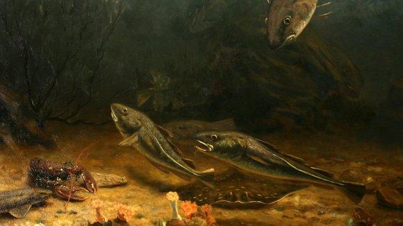 De relatie tussen kunst en natuur - Schilderij kooi d trap ...